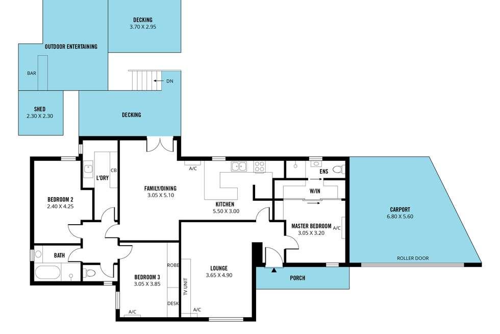 Floorplan of Homely house listing, 16 Manoora Drive, Hallett Cove SA 5158