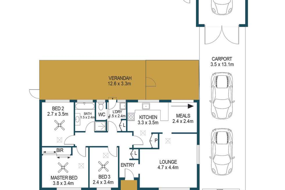 Floorplan of Homely house listing, 19 Maughan Avenue, Redwood Park SA 5097