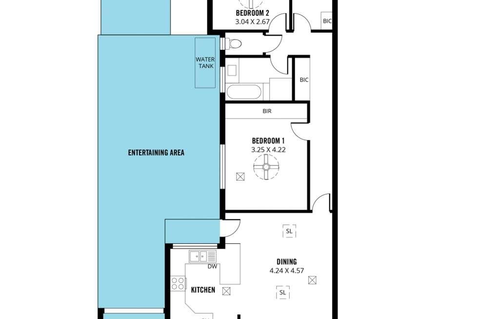 Floorplan of Homely house listing, 1/13 Riesling Street, Morphett Vale SA 5162