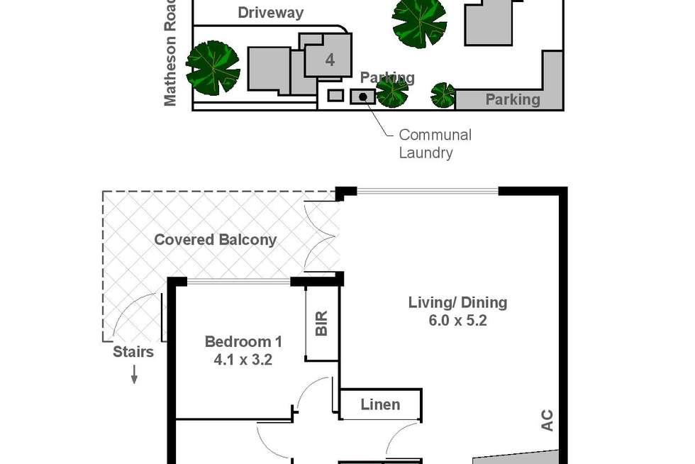 Floorplan of Homely apartment listing, 4/40 Matheson Road, Applecross WA 6153