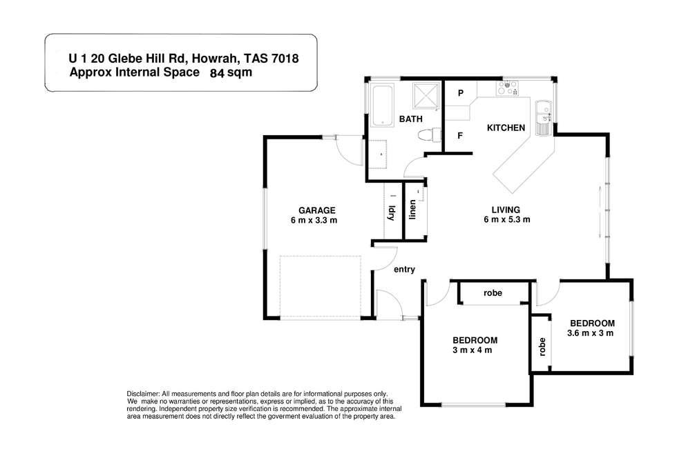 Floorplan of Homely unit listing, 1-20 Glebe Hill Road, Howrah TAS 7018