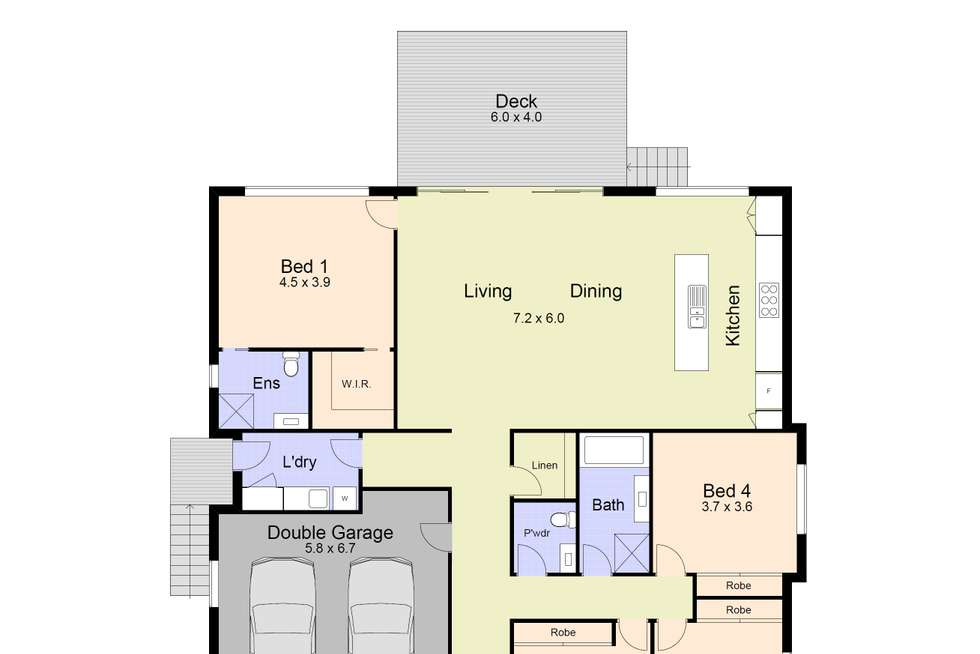 Floorplan of Homely house listing, 4 Heaney Street, Smiths Lake NSW 2428