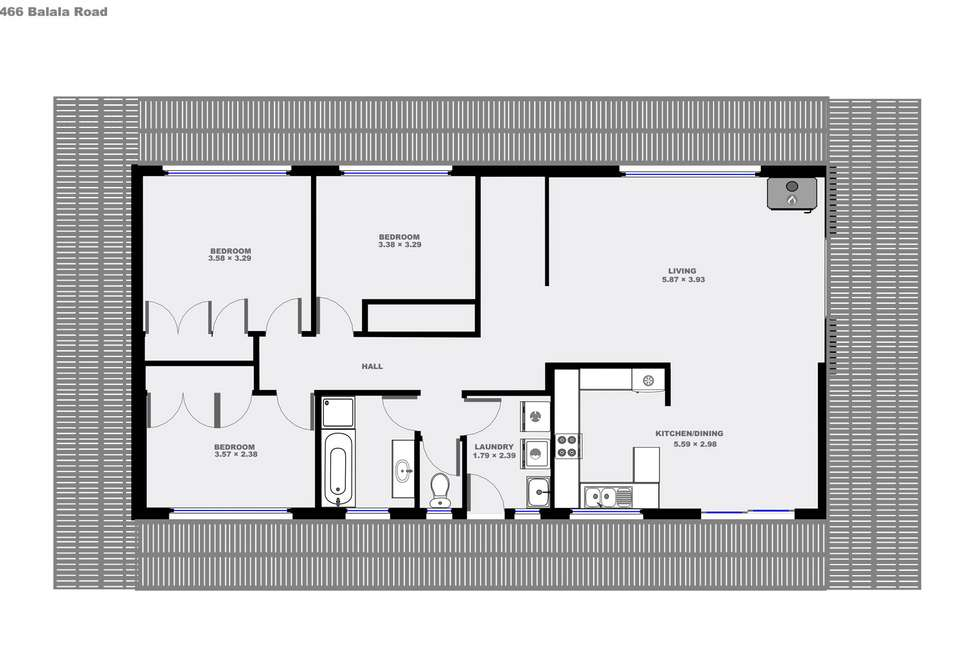 Floorplan of Homely livestock listing, 466 Balala Road, Uralla NSW 2358