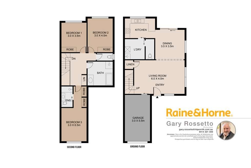 Floorplan of Homely townhouse listing, 3/40 Bringelly Road, Kingswood NSW 2747