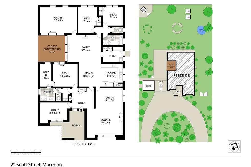 Floorplan of Homely house listing, 22 Scott Street(Enter via Bent St), Macedon VIC 3440