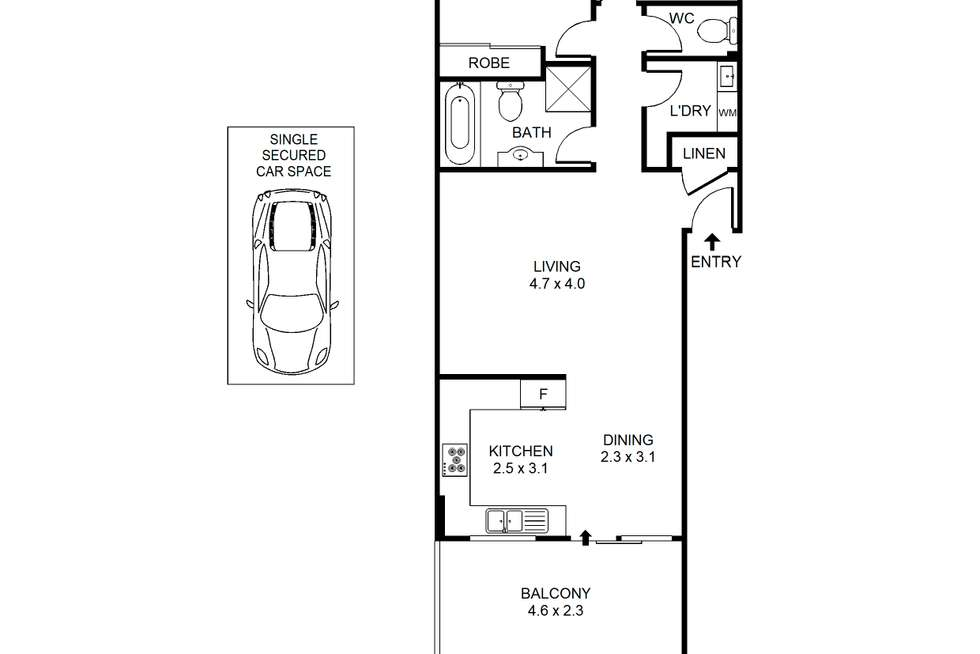 Floorplan of Homely unit listing, 24/350 Liverpool Road, Ashfield NSW 2131