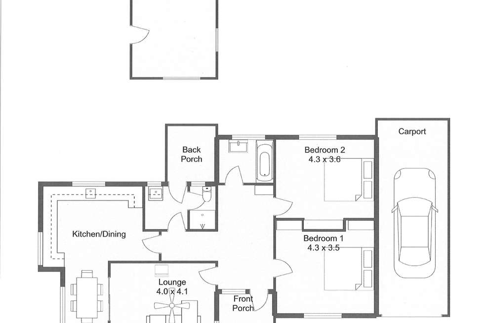 Floorplan of Homely house listing, 11 LOVEDAY STREET, Naracoorte SA 5271