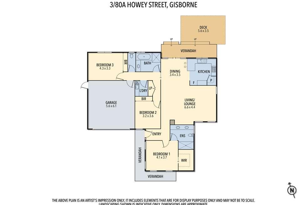 Floorplan of Homely house listing, 3/80A Howey Street, Gisborne VIC 3437