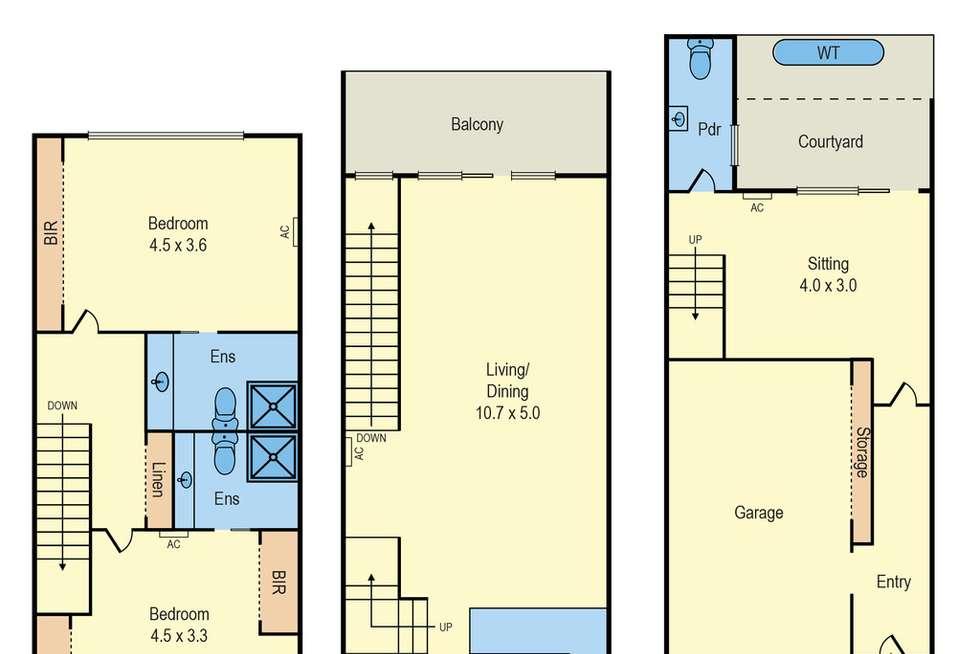 Floorplan of Homely townhouse listing, 3/4 Blagdon Street, Cheltenham VIC 3192