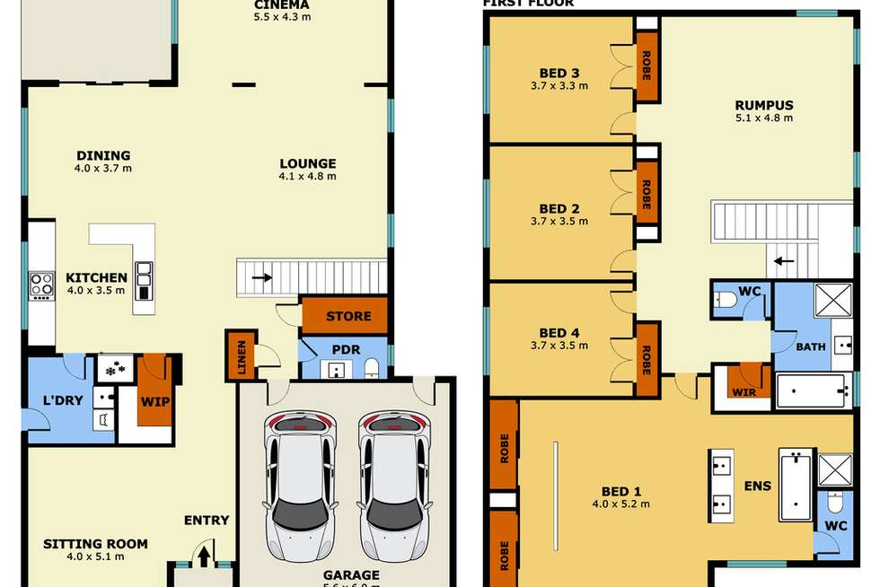 Floorplan of Homely house listing, 126 Tom Roberts Parade, Point Cook VIC 3030