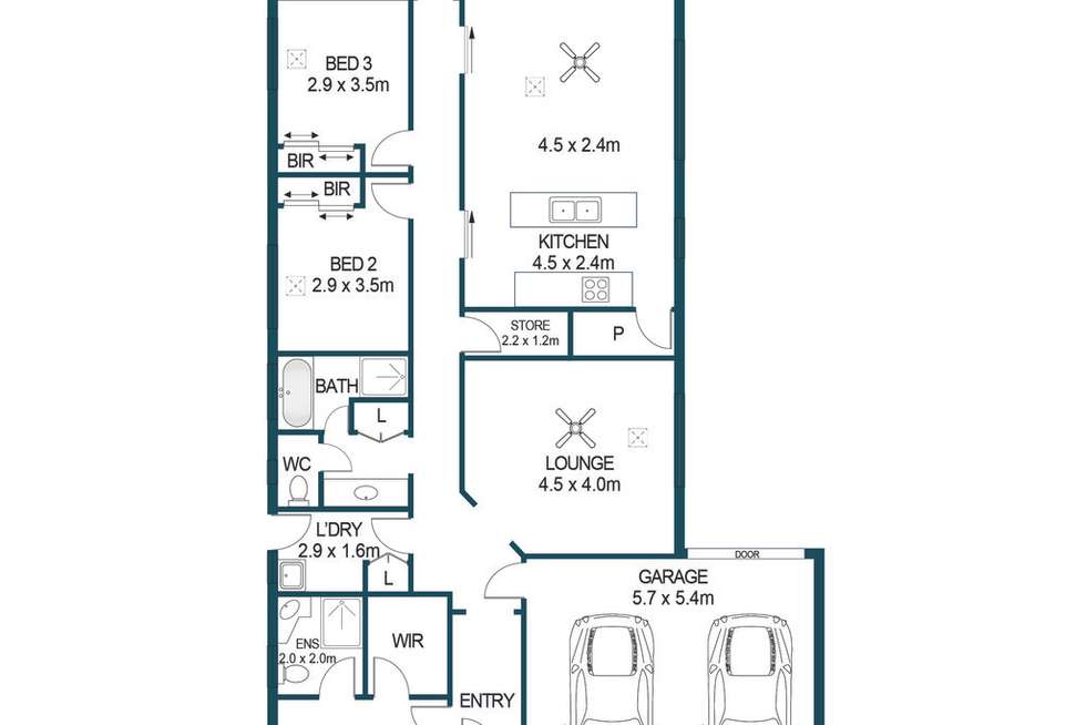Floorplan of Homely house listing, 8 Baxter Avenue, Penfield SA 5121