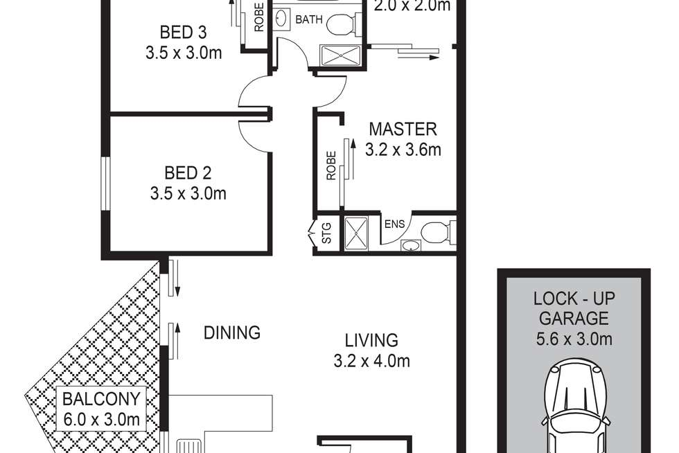 Floorplan of Homely unit listing, 6 / 76 Meehan Street, Granville NSW 2142