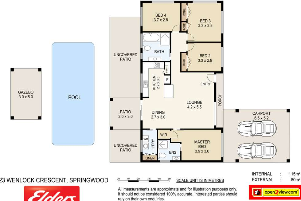 Floorplan of Homely house listing, 23 Wenlock Crescent, Springwood QLD 4127