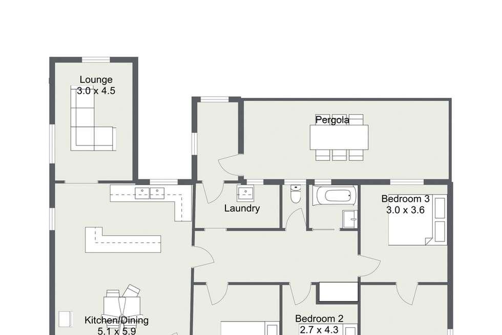 Floorplan of Homely house listing, 1 PLANE STREET, Lucindale SA 5272