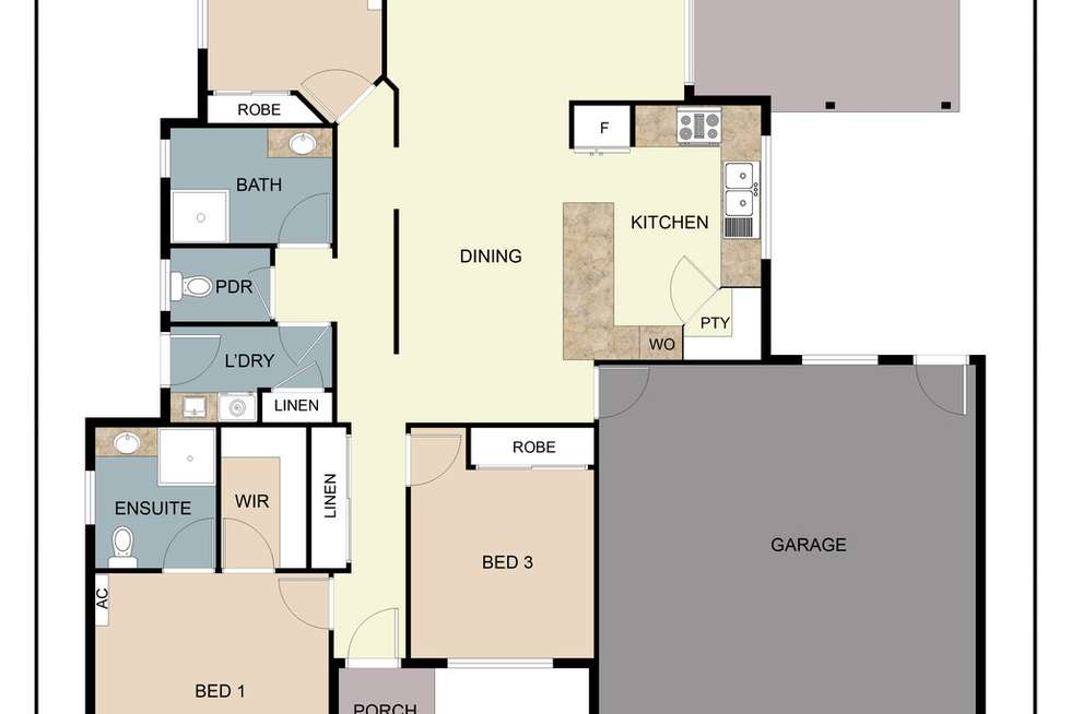Floorplan of Homely house listing, 6 Persea Place, Glass House Mountains QLD 4518