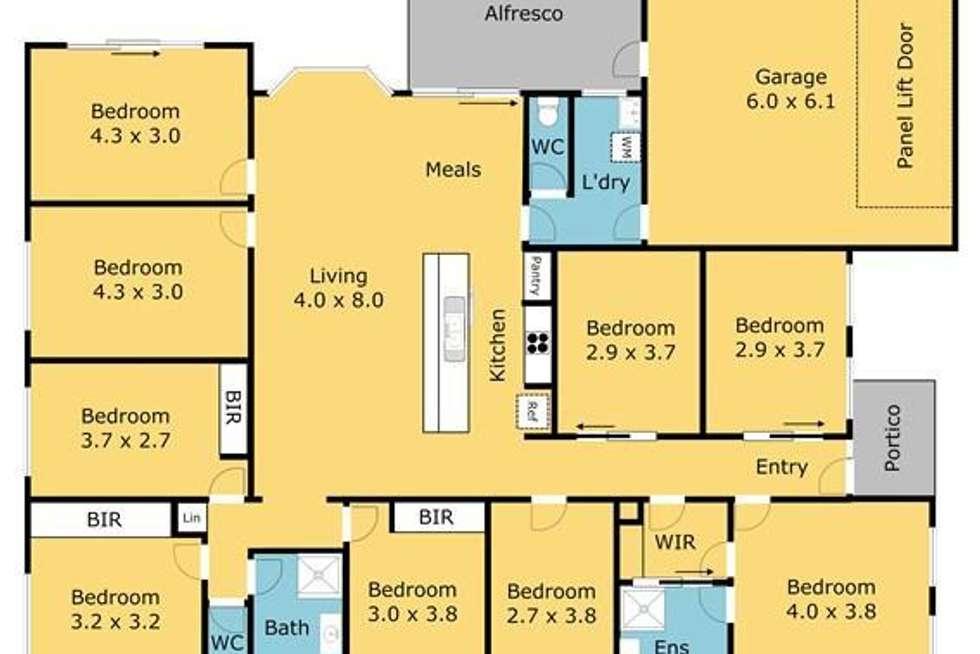 Floorplan of Homely house listing, Room 5/2-4 Spedding Link, Highton VIC 3216