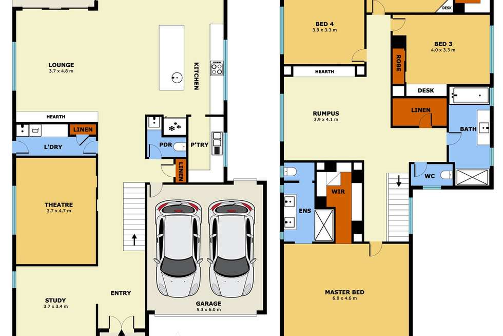 Floorplan of Homely house listing, 6 Roundhay Crescent, Point Cook VIC 3030