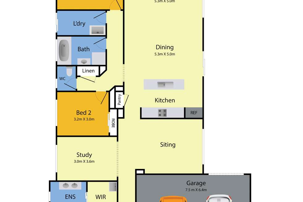 Floorplan of Homely house listing, 23 Ravida Avenue, Harkness VIC 3337