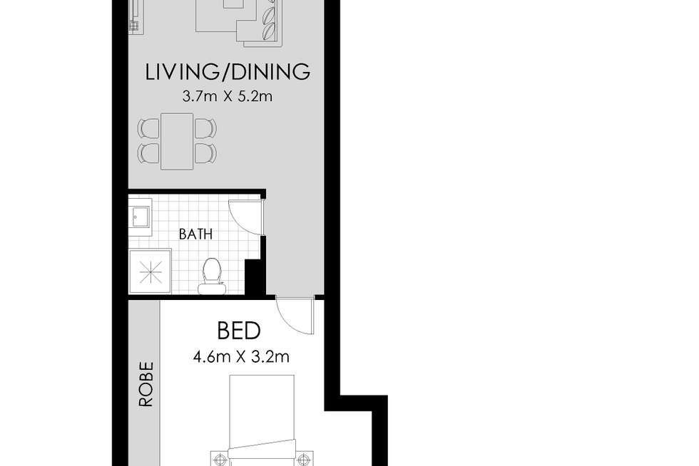 Floorplan of Homely apartment listing, 2006/11 Hassall St, Parramatta NSW 2150