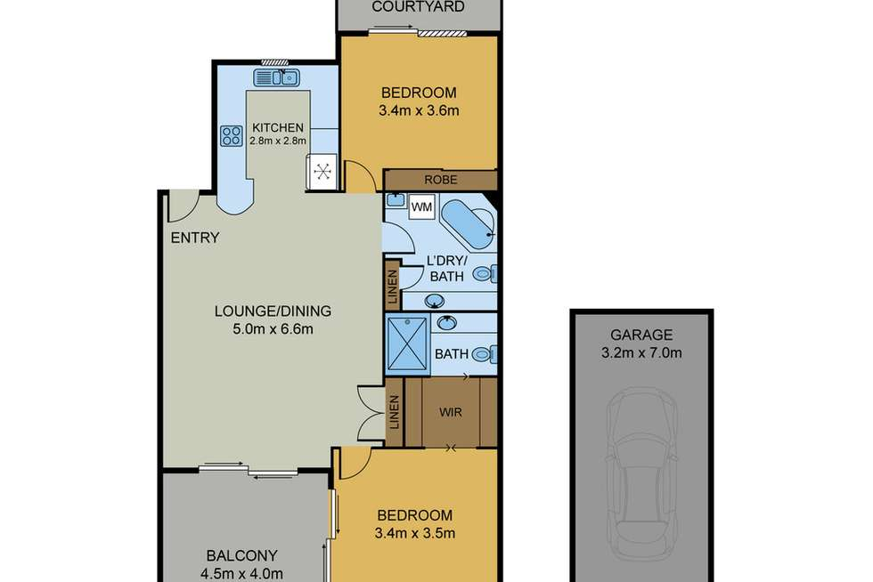 Floorplan of Homely unit listing, 5/309 Enoggera Road, Newmarket QLD 4051