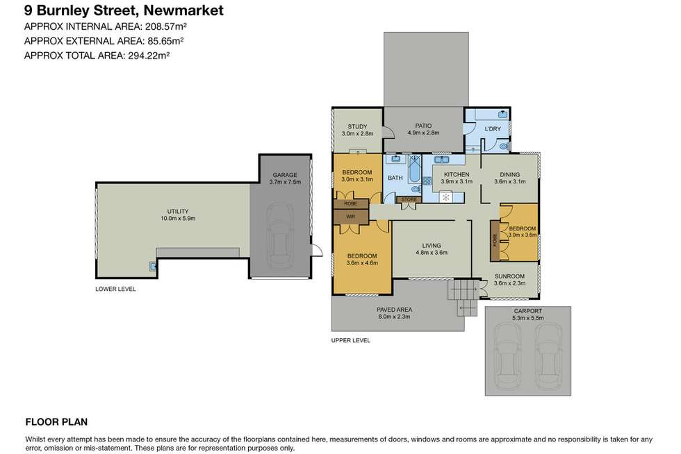 Floorplan of Homely house listing, 9 Burnley Street, Newmarket QLD 4051