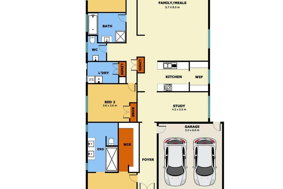 Floorplan of Homely house listing, 21 Serra way, Fraser Rise VIC 3336