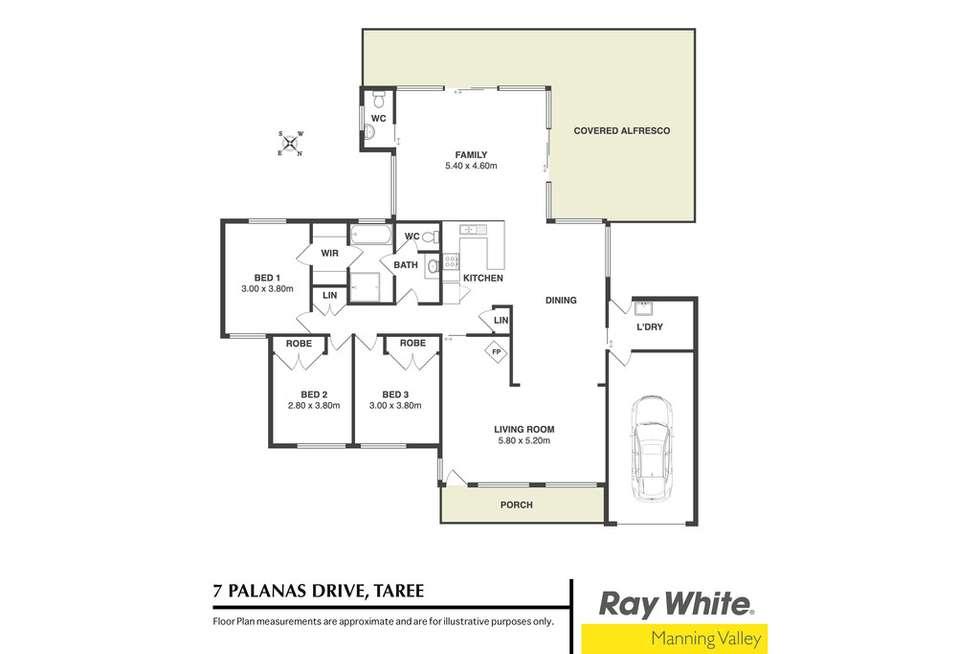 Floorplan of Homely house listing, 7 Palanas Drive, Taree NSW 2430
