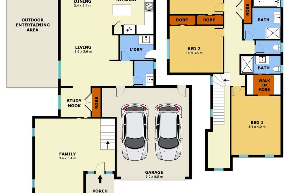 Floorplan of Homely house listing, 20 Architecture Way, Point Cook VIC 3030
