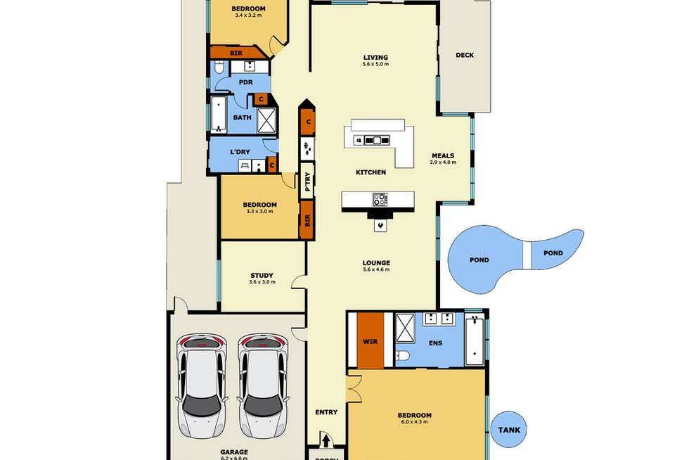 Floorplan of Homely house listing, 7 Bramble Way, Point Cook VIC 3030
