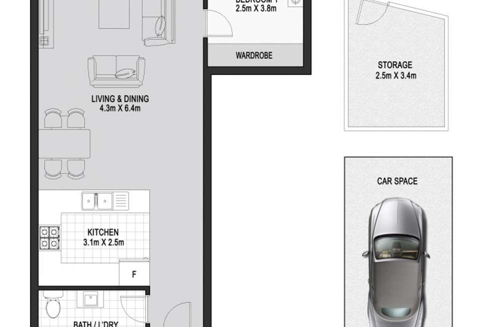 Floorplan of Homely apartment listing, 410/5 Nina Gray Ave, Rhodes NSW 2138