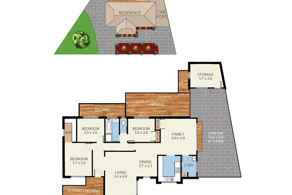 Floorplan of Homely house listing, 90 Tiverton Drive, Mulgrave VIC 3170