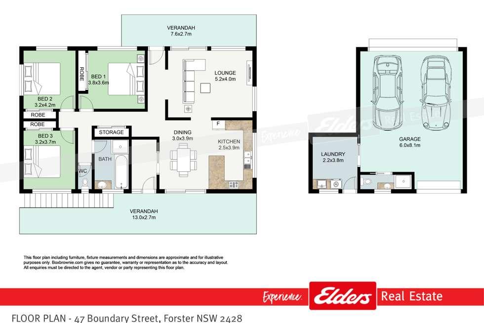 Floorplan of Homely house listing, 47 Boundary Street, Forster NSW 2428