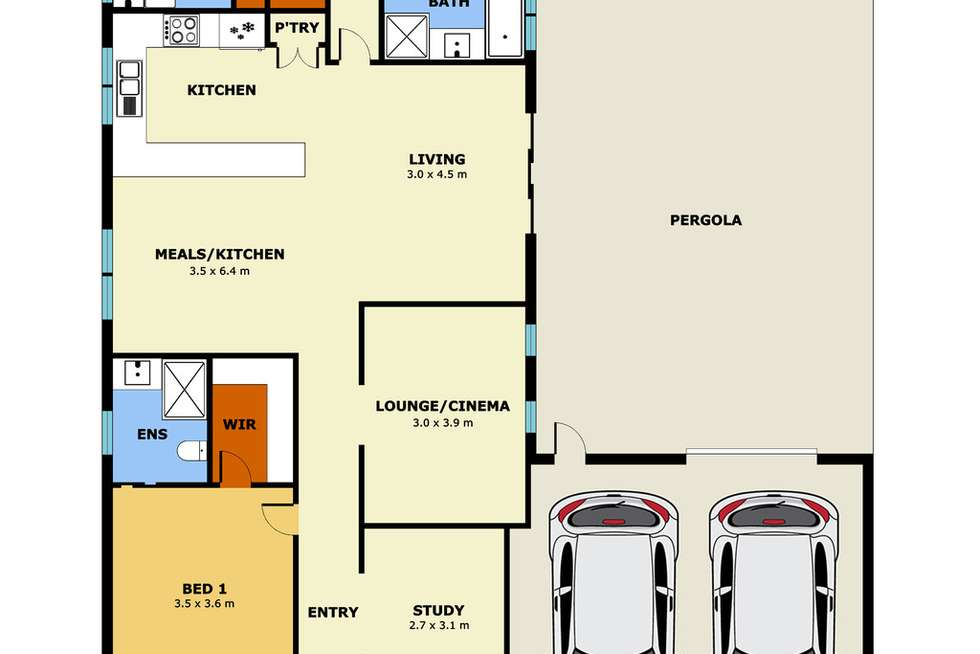 Floorplan of Homely house listing, 7 Benetti Drive, Lara VIC 3212