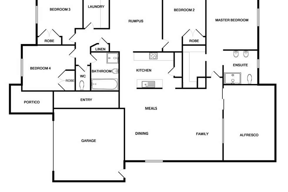 Floorplan of Homely house listing, 42 Freshwater Boulevard, Lyndhurst VIC 3975