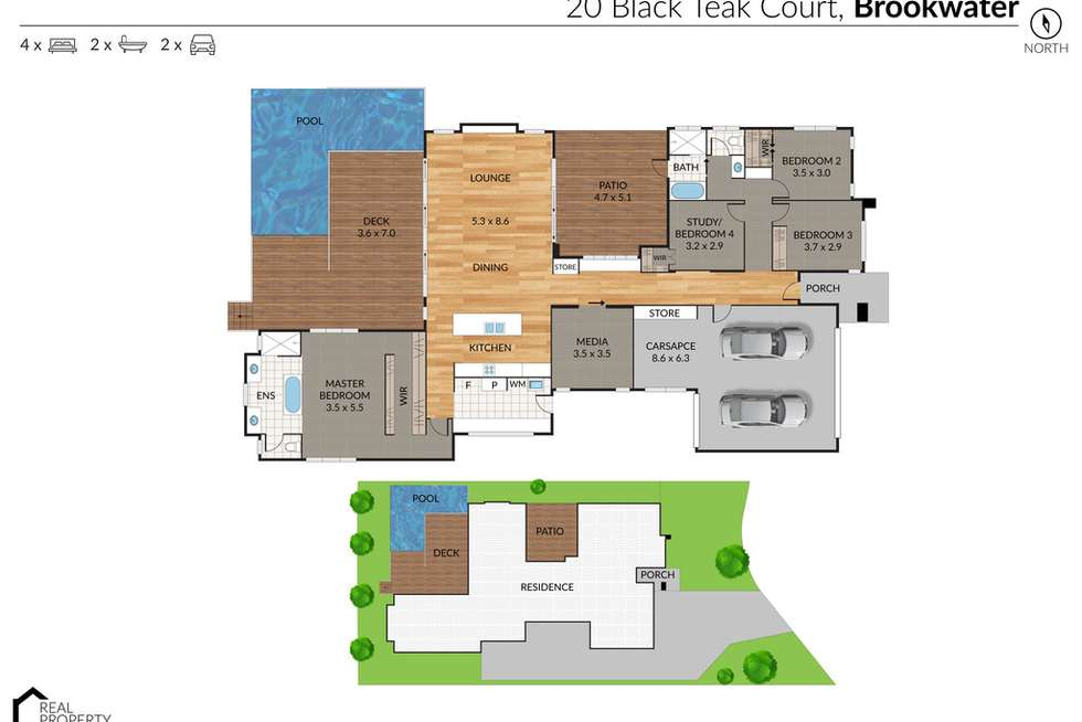 Floorplan of Homely house listing, 20 Black Teak Court, Brookwater QLD 4300