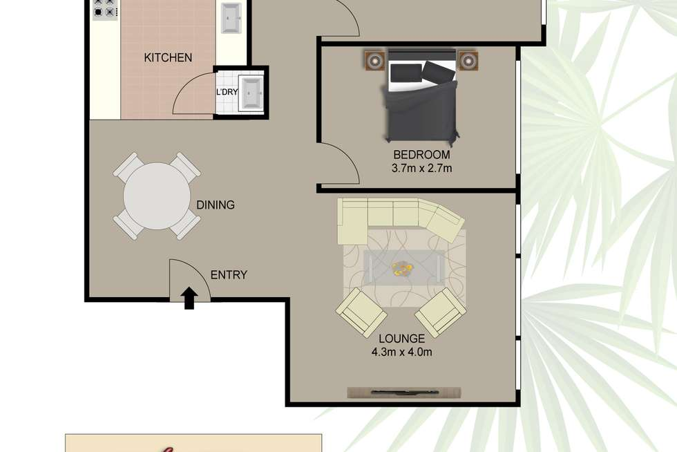 Floorplan of Homely apartment listing, 7/40A Cromwell Street, Croydon Park NSW 2133
