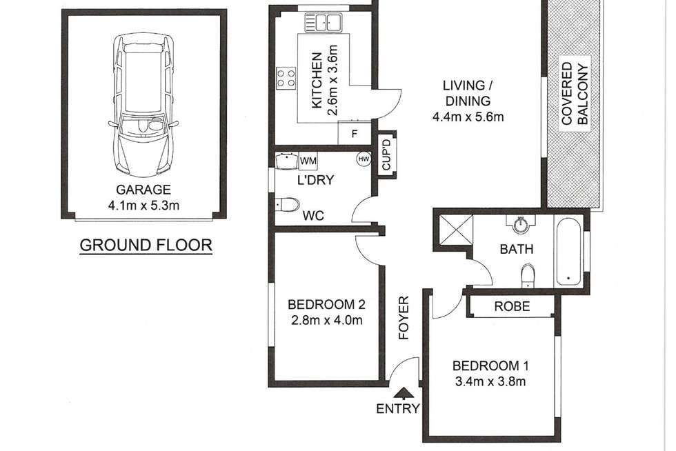 Floorplan of Homely unit listing, 2/20 LENNOX STREET, Parramatta NSW 2150
