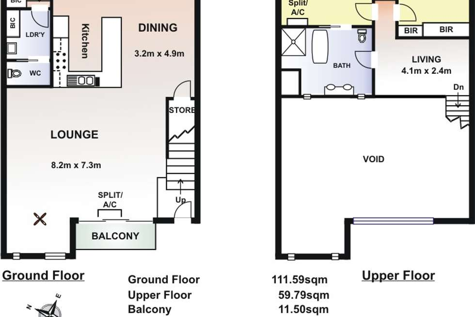 Floorplan of Homely apartment listing, 33/237 Wakefield Street, Adelaide SA 5000