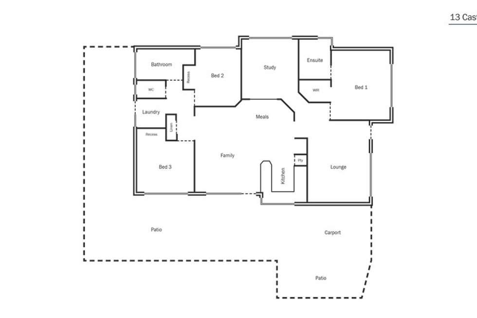 Floorplan of Homely house listing, 13 Castlerock Avenue, Waikiki WA 6169