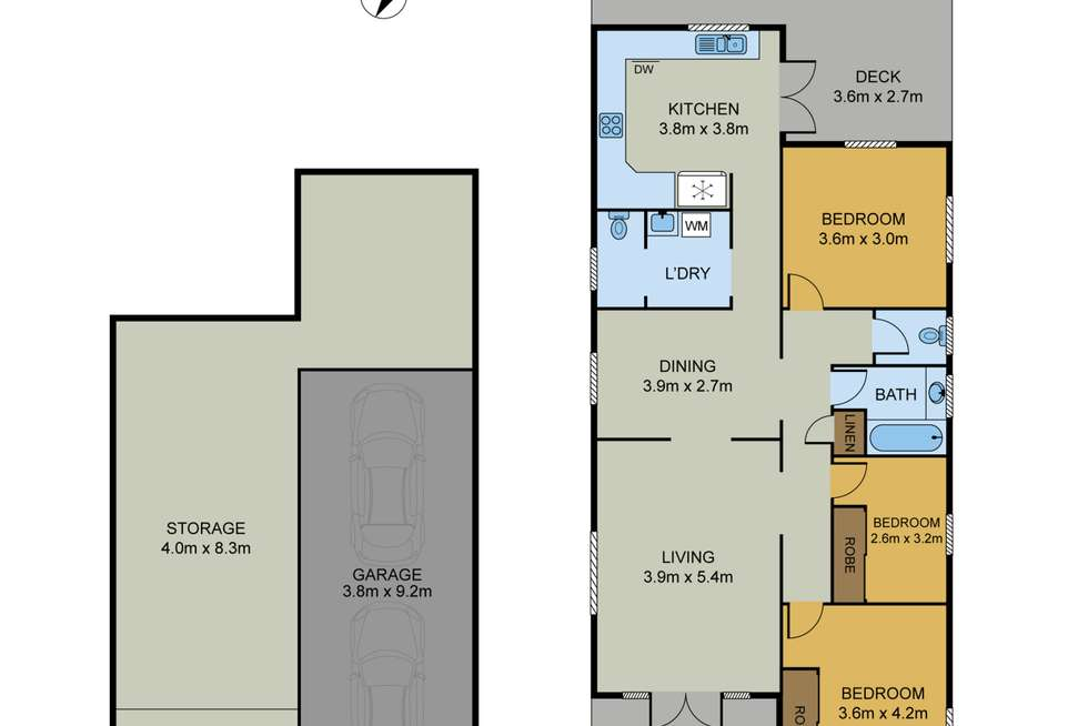 Floorplan of Homely house listing, 87 Peach Street, Greenslopes QLD 4120