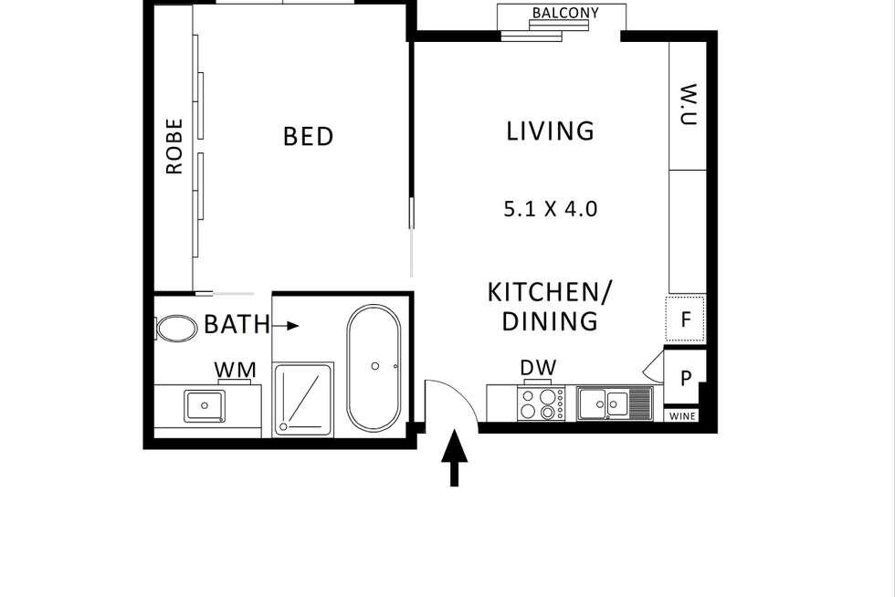 Floorplan of Homely apartment listing, P23/394 Collins Street, Melbourne VIC 3000