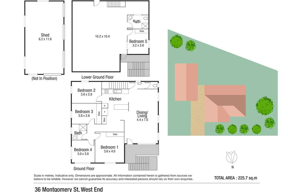 Floorplan of Homely house listing, 36 Montgomery Street, West End QLD 4810