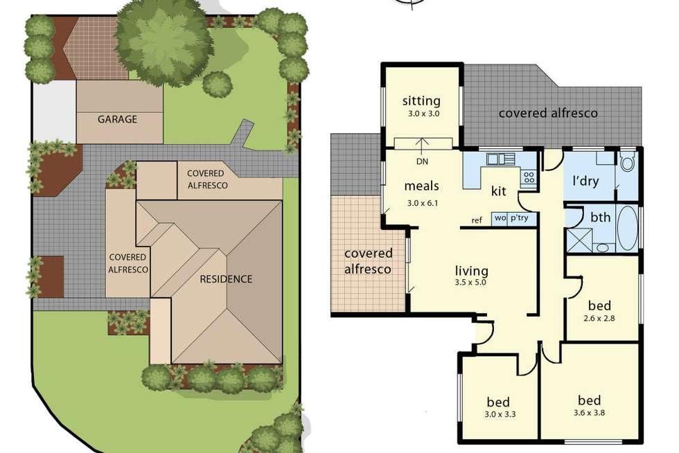 Floorplan of Homely house listing, 6 Fernwood Road, Narre Warren VIC 3805