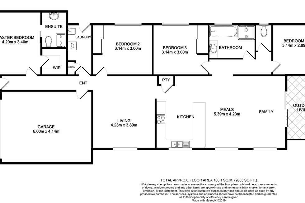 Floorplan of Homely house listing, 14 Boland Drive, Lyndhurst VIC 3975