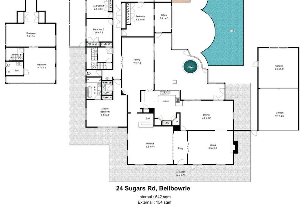 Floorplan of Homely acreageSemiRural listing, 24 Sugars Road, Bellbowrie QLD 4070
