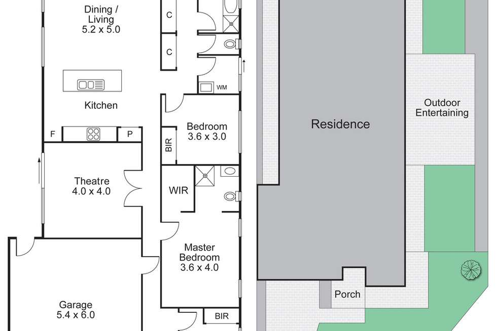 Floorplan of Homely house listing, 117 Tom Roberts Parade, Point Cook VIC 3030