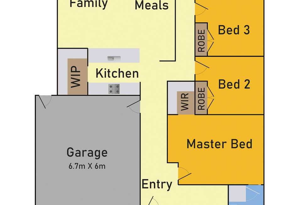 Floorplan of Homely house listing, 12 Bateman Drive, Harkness VIC 3337
