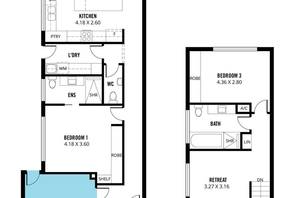 Floorplan of Homely house listing, 20B Melville Street, South Plympton SA 5038