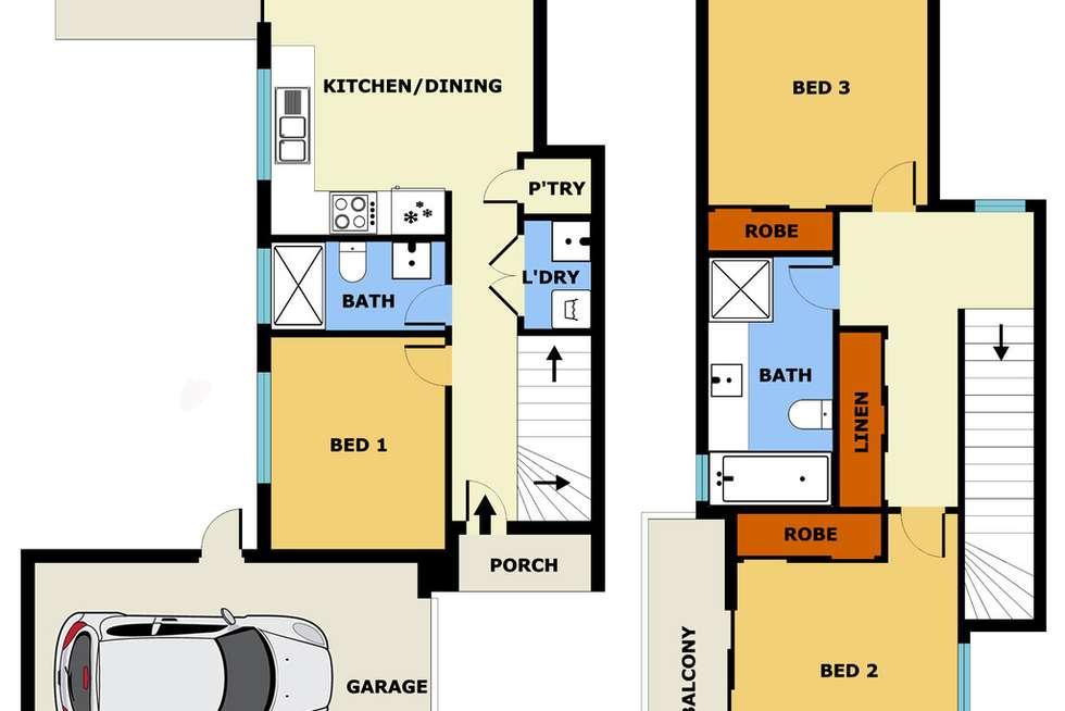 Floorplan of Homely townhouse listing, 3/4 Cobby Street, Laverton VIC 3028