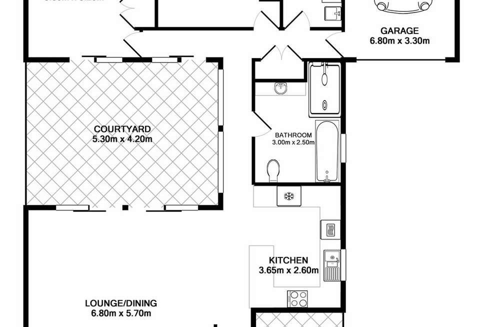 Floorplan of Homely villa listing, 1/14 Blackbutt Crescent, Laurieton NSW 2443